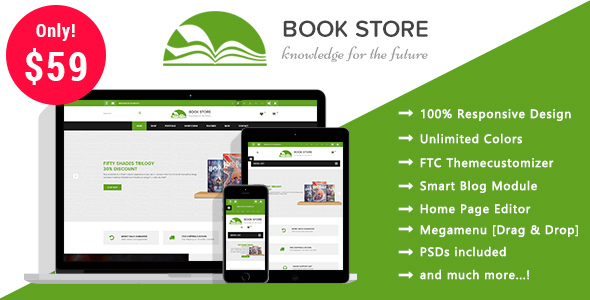 Book Store - Books Publisher Responsive Prestashop 1.7 Theme - Shopping PrestaShop