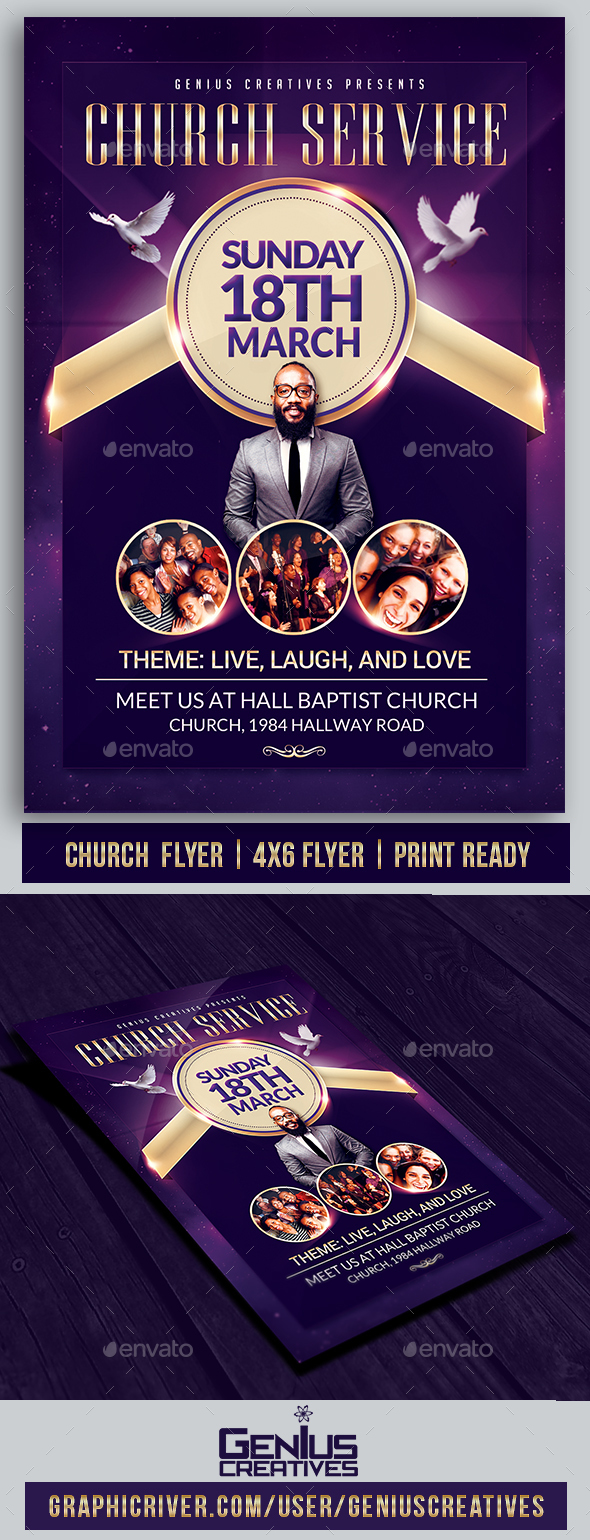Church Service Flyer Template - Church Flyers