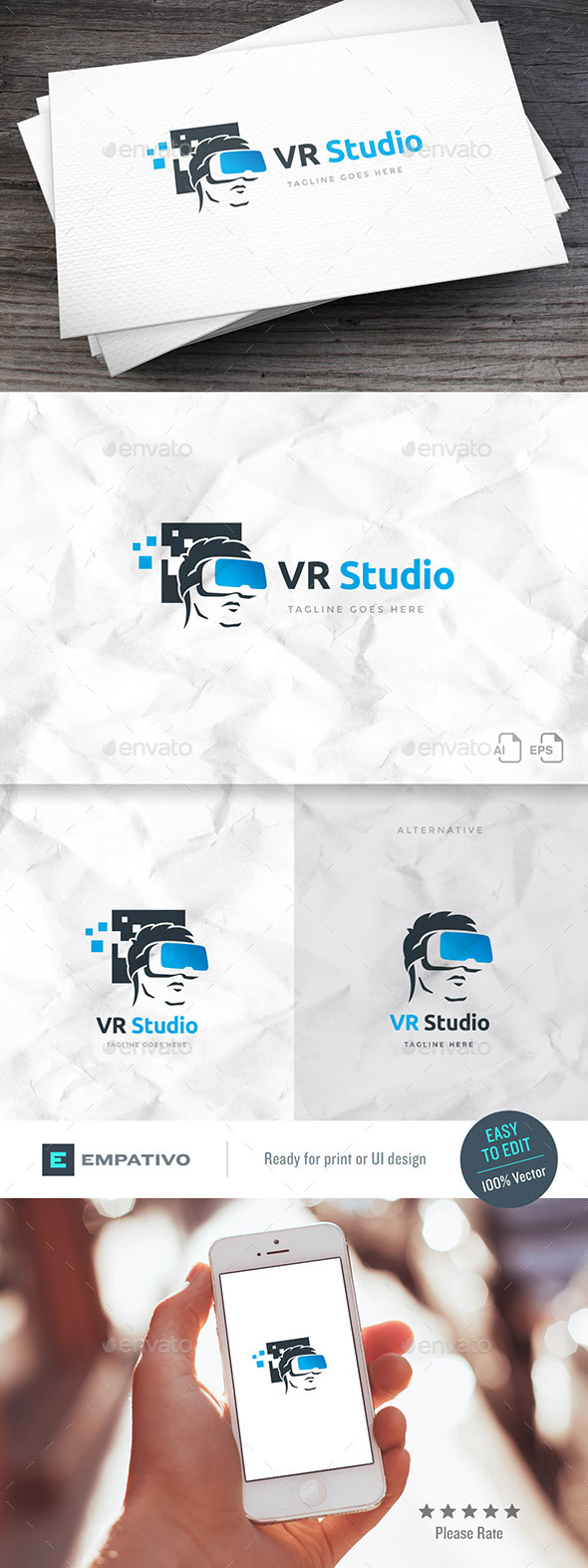 VR Studio Logo Template - Humans Logo Templates