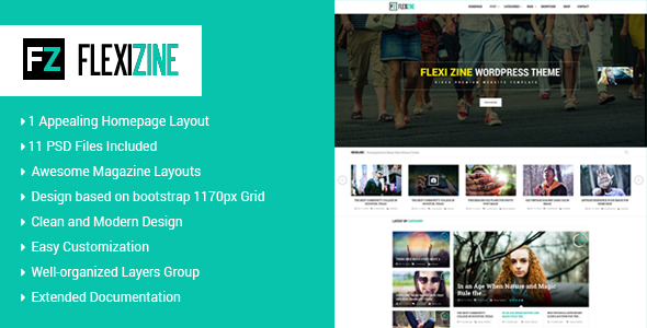 ThemeForest Flexi PSD Template for Blog Personal and News 20280337