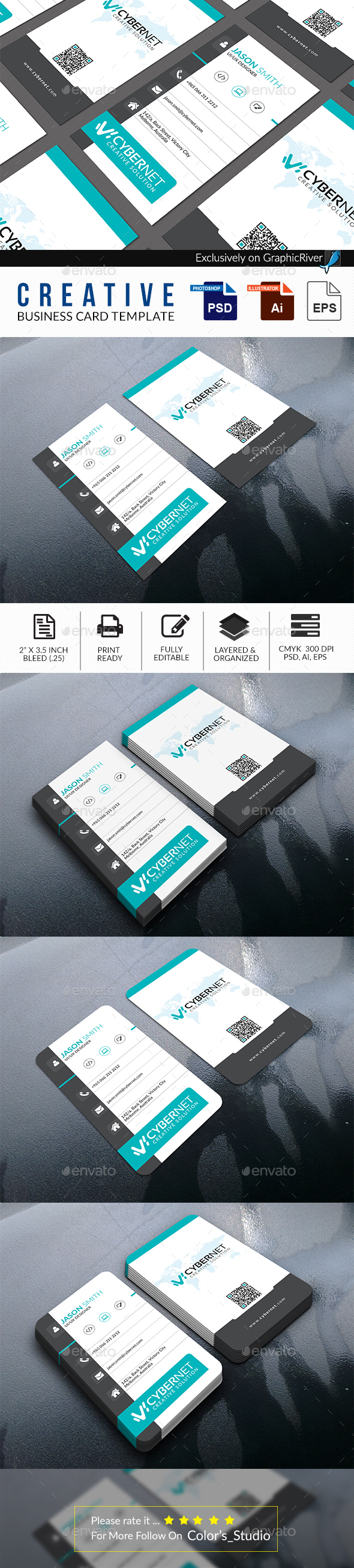 Professional Business Card Template - Business Cards Print Templates