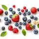 various fresh berries on white background - PhotoDune Item for Sale