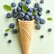 fresh blueberries in ice cream cone - PhotoDune Item for Sale
