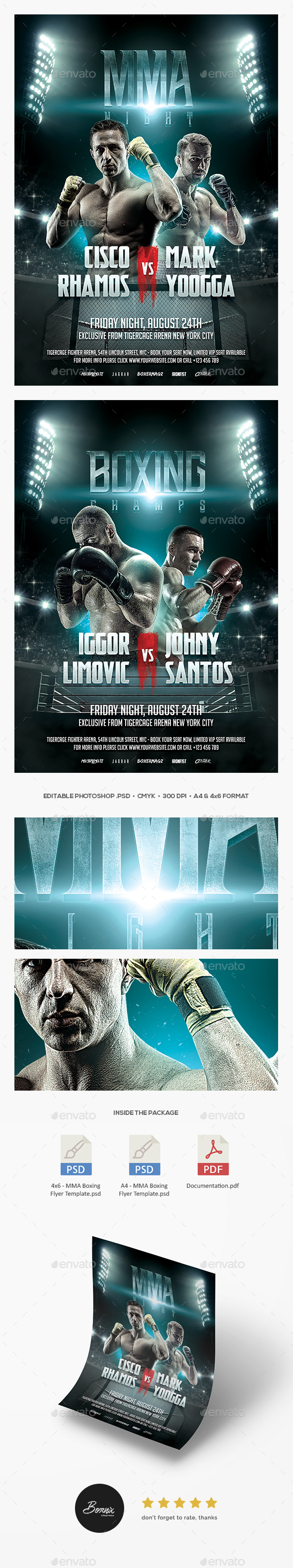 MMA Boxing Flyer - Sports Events