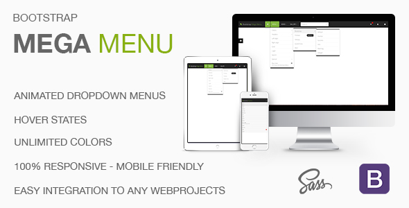 Mega Menu - Responsive Mega Navbar for Bootstrap - CodeCanyon Item for Sale