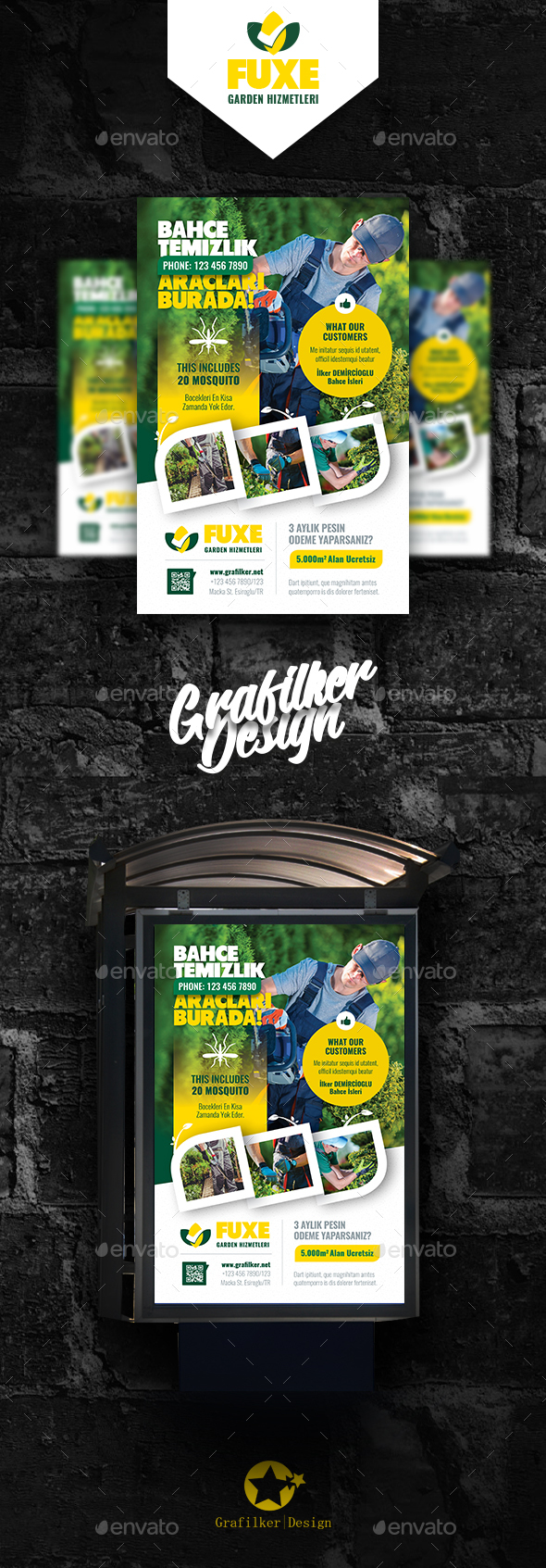 Garden Landscape Poster Templates - Signage Print Templates