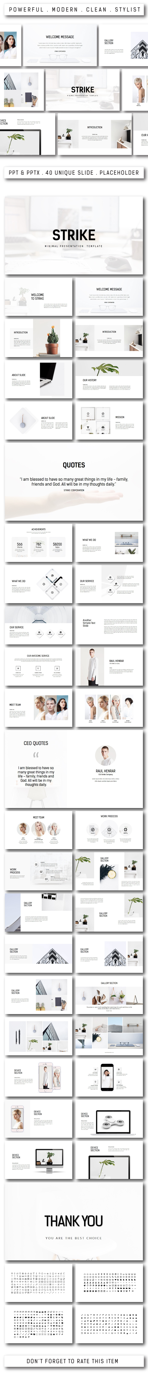 GraphicRiver Strike Minimal Powerpoint Template 20395532