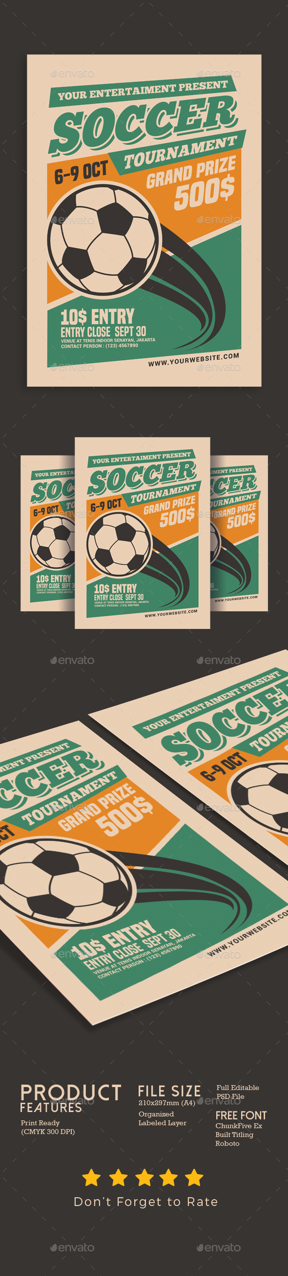 Soccer Tournament Flyer - Events Flyers
