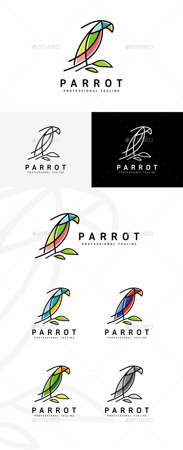Parrot - Animals Logo Templates