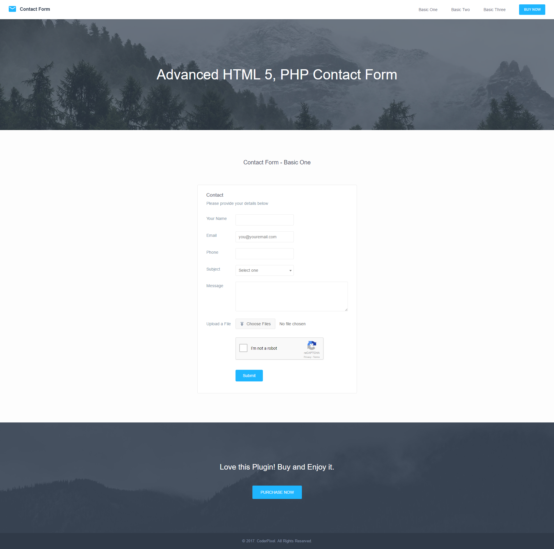 Advanced PHP, HTML5 & AJAX Contact Form