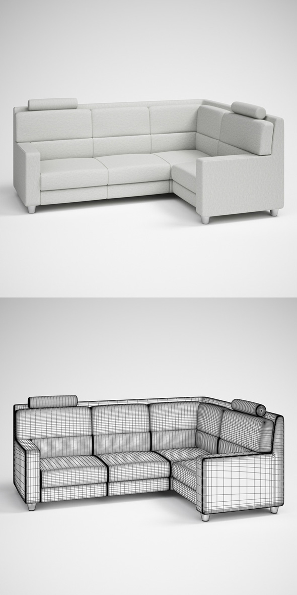 CGAxis Modern Corner Sofa 26 - 3DOcean Item for Sale