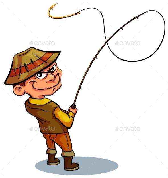 Catty Malicious Fisherman - Sports/Activity Conceptual