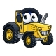 Cartoon Farm Tractor Character - GraphicRiver Item for Sale