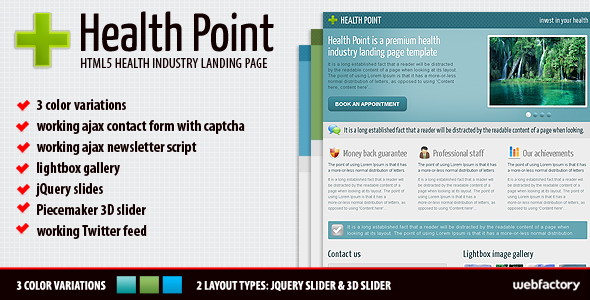 Free Download Health Point Landing Page Nulled Latest Version