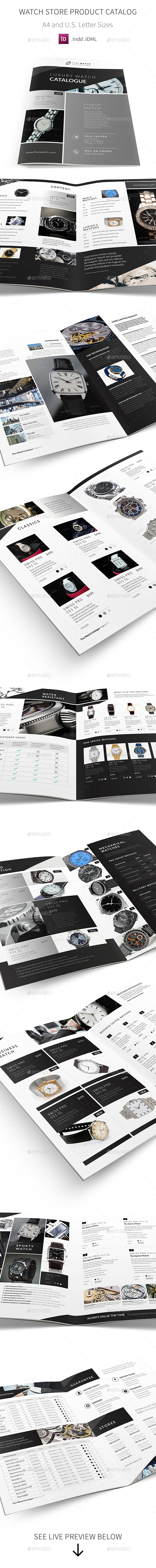 Watch Store Product Catalog - Catalogs Brochures