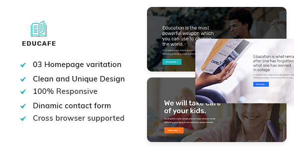 Download Educafe - Eduaction and Online Learning Academy Template