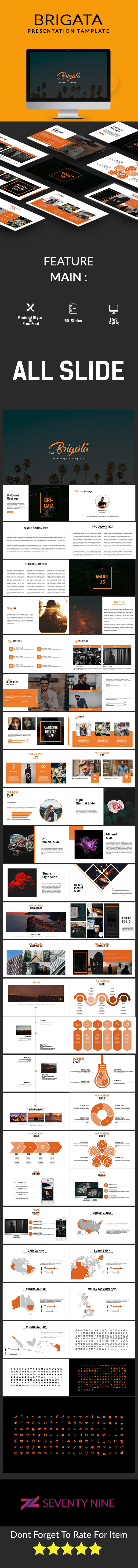 Brigata Multipurpose Powerpoint Template - PowerPoint Templates Presentation Templates