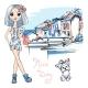Fashion Girl in Manarola, Italia. - GraphicRiver Item for Sale