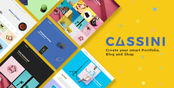 Cassini - Portfolio and Shop WordPress Theme