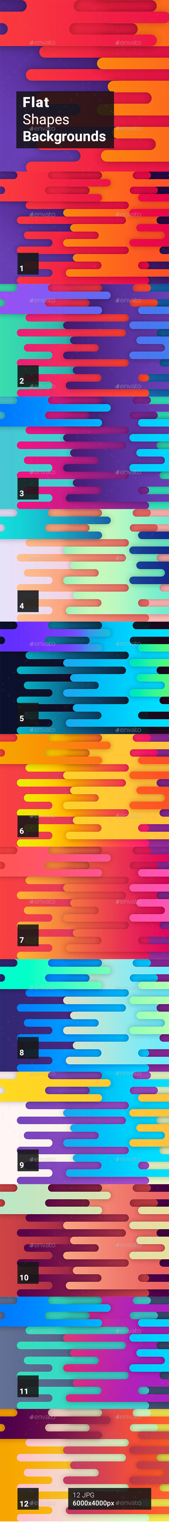 GraphicRiver Flat Shapes Backgrounds 20396799