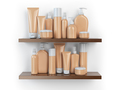 Shelf with cosmetics and toiletries. - PhotoDune Item for Sale