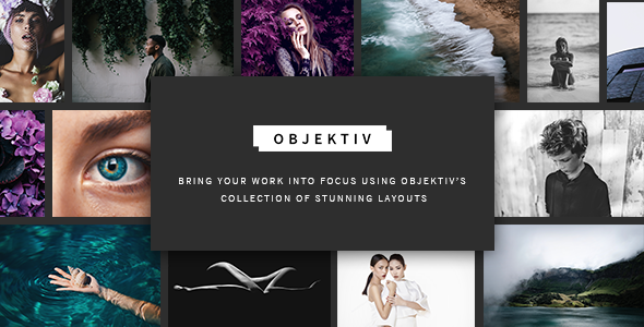 ThemeForest Objektiv A Contemporary and Clean Photography Theme 20391413