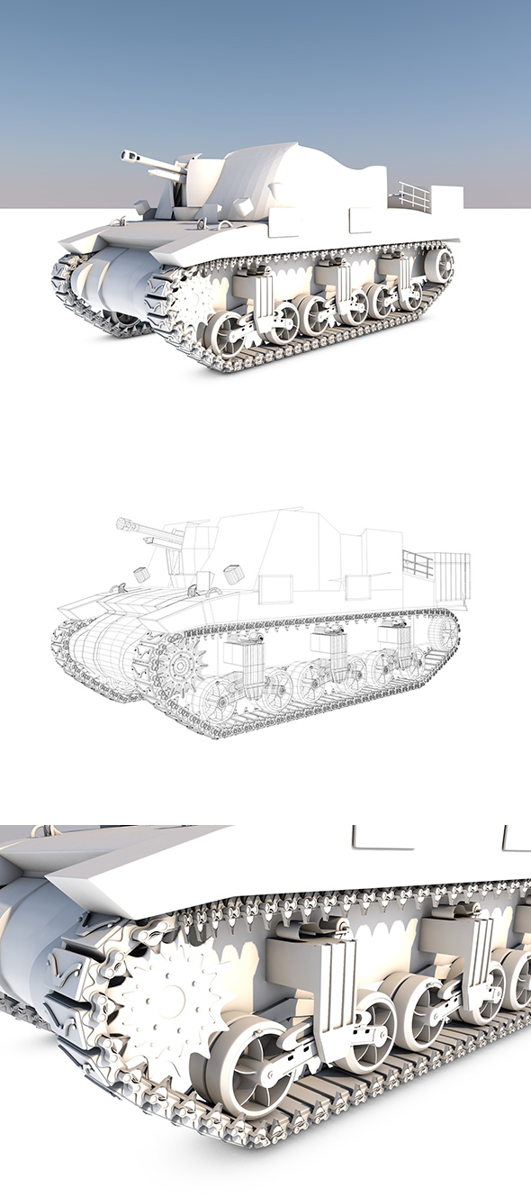 Tank-Sexton-XP - 3DOcean Item for Sale