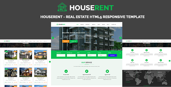 HouseRent - Real Estate HTML5 Responsive Template