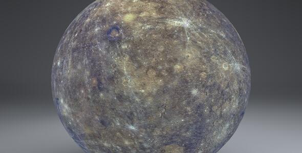 Mercury 4k Globe - 3DOcean Item for Sale