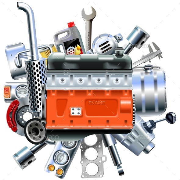 Vector Engine with Truck Spares - Industries Business