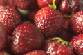 Fresh ripe perfect strawberry. Macro.