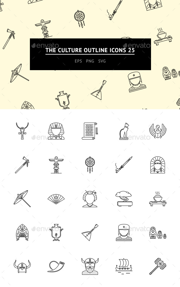 The Culture Outline Icons 25 - Web Icons