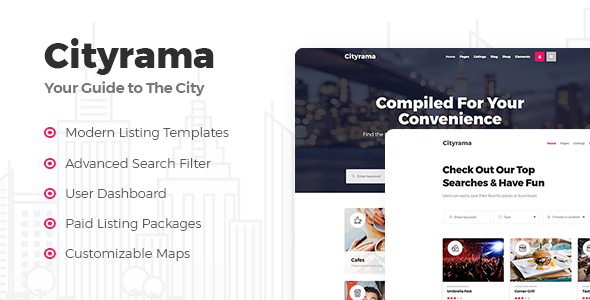 Cityrama - A Local Listing and City Guide Theme