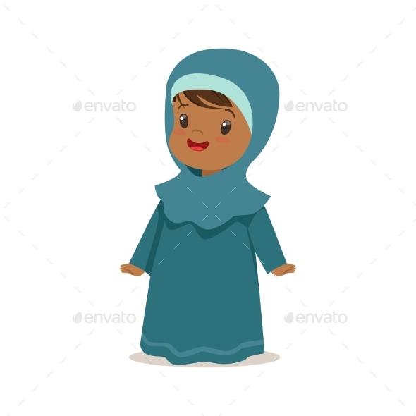 Girl Wearing National Costume of UAE, Islamic - People Characters