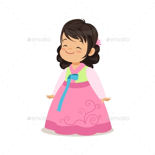 Little Girl Wearing Pink Dress - People Characters