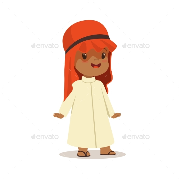 GraphicRiver Boy Wearing in White Dress and Red Muslim 20397145