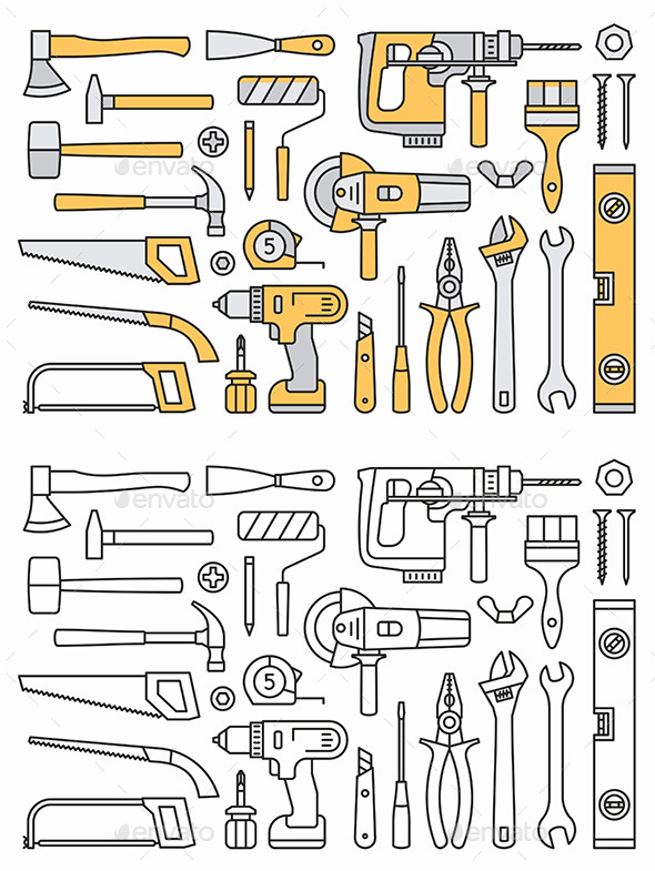 GraphicRiver Building Tools Icons 20397460