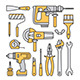 Building Tools Icons - GraphicRiver Item for Sale