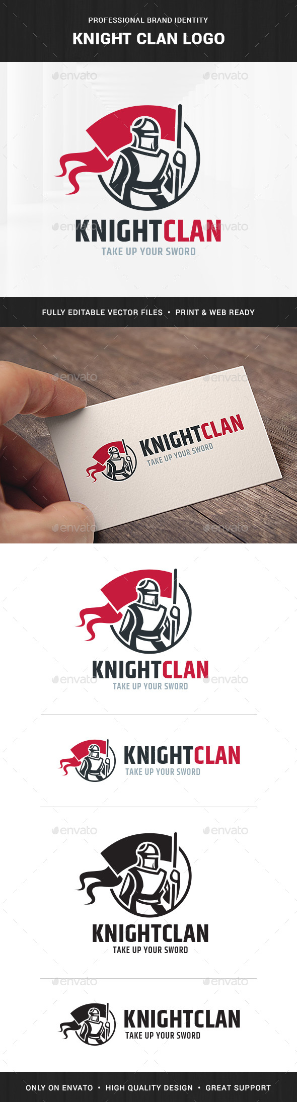 Knight Clan Logo Template - Humans Logo Templates