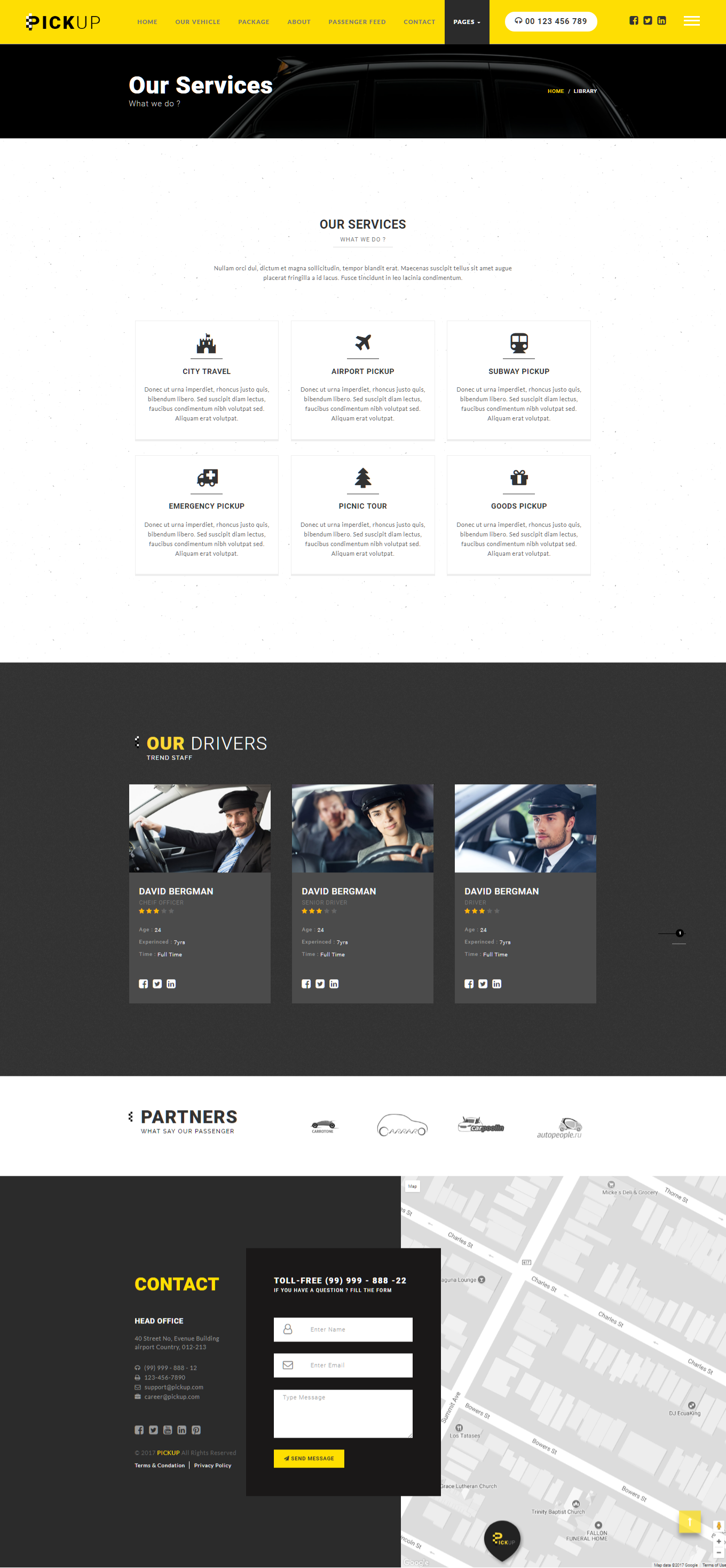 Pickup Cab PSD HTML Template by govindsaini | ThemeForest