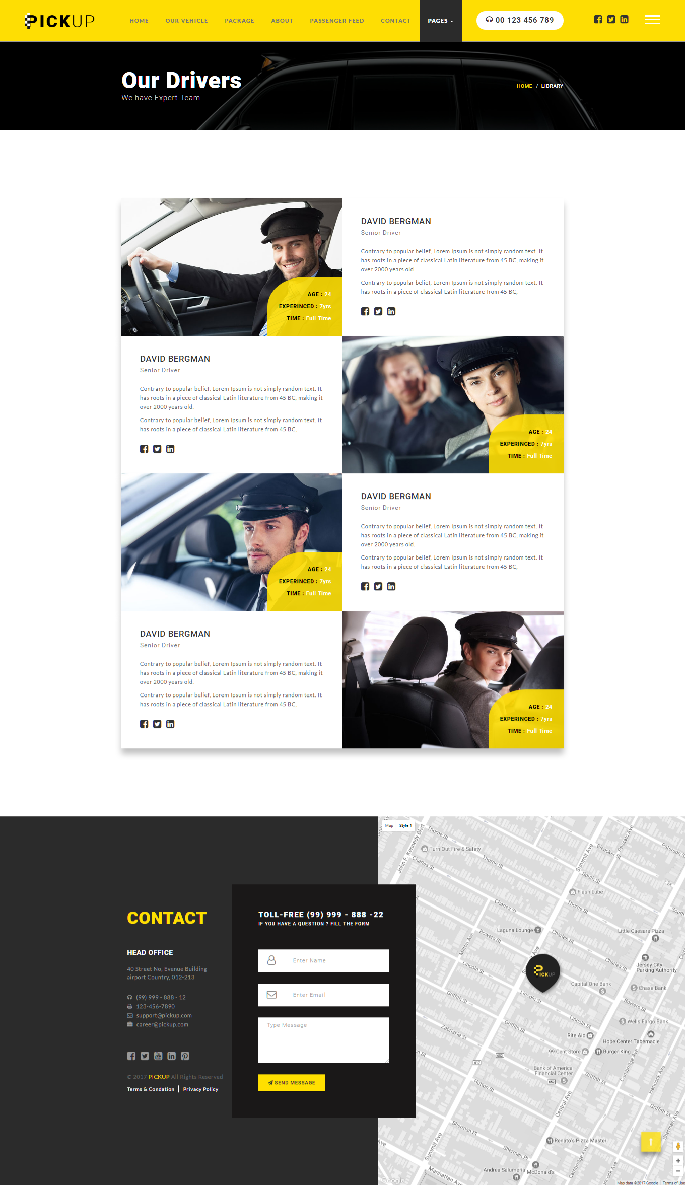 Pickup Cab PSD HTML Template