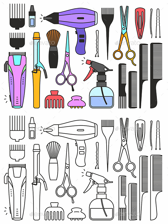 GraphicRiver Barber Shop Tools 20397522
