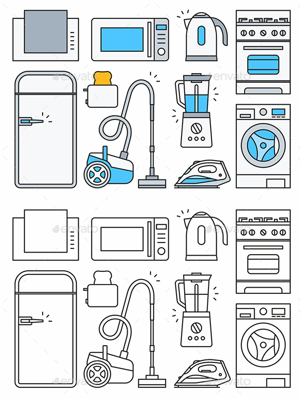 GraphicRiver Home Appliance Icons 20397550