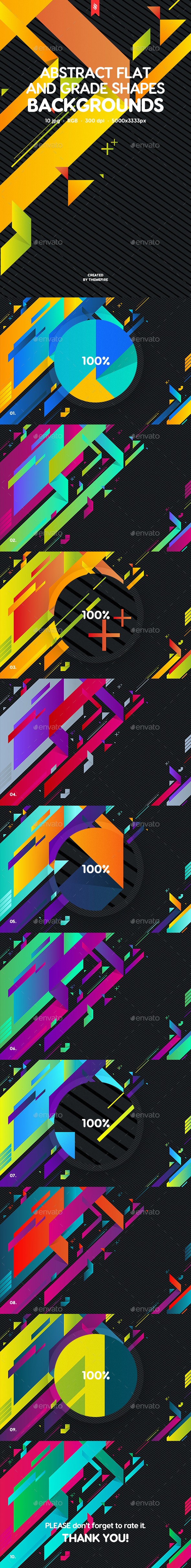 GraphicRiver Abstract Flat and Grade Shapes Backgrounds 20397573