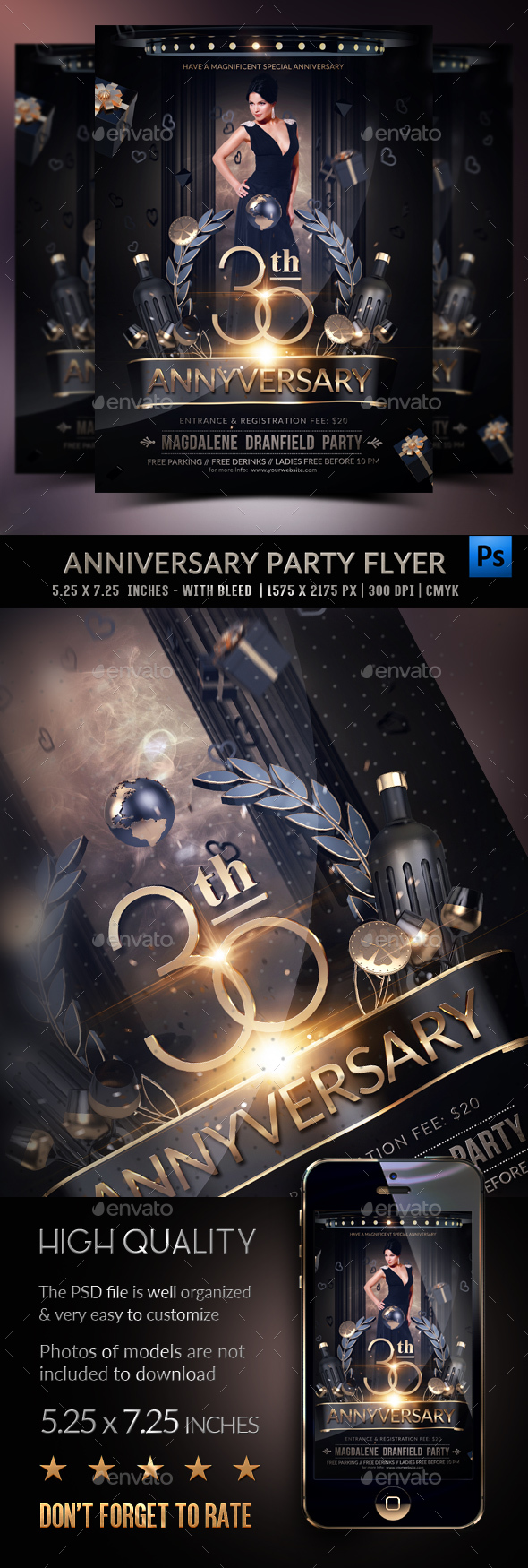 Anniversary Party Template - Clubs & Parties Events