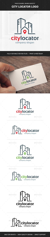 City Locator Logo Template - Buildings Logo Templates
