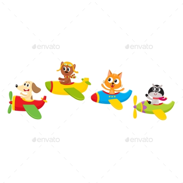 Baby Animal, Pet Characters Flying - Animals Characters