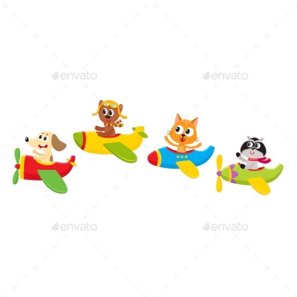 Baby Animal, Pet Characters Flying