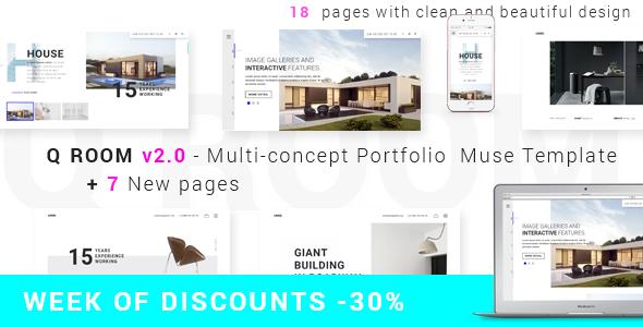 Q ROOM -2.0 Multi-concept Portfolio  Muse Template