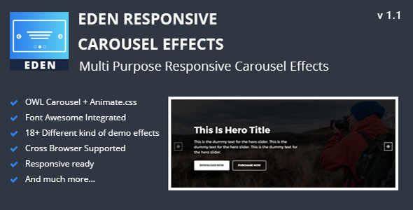 Eden - Responsive Carousel Effects nulled free download